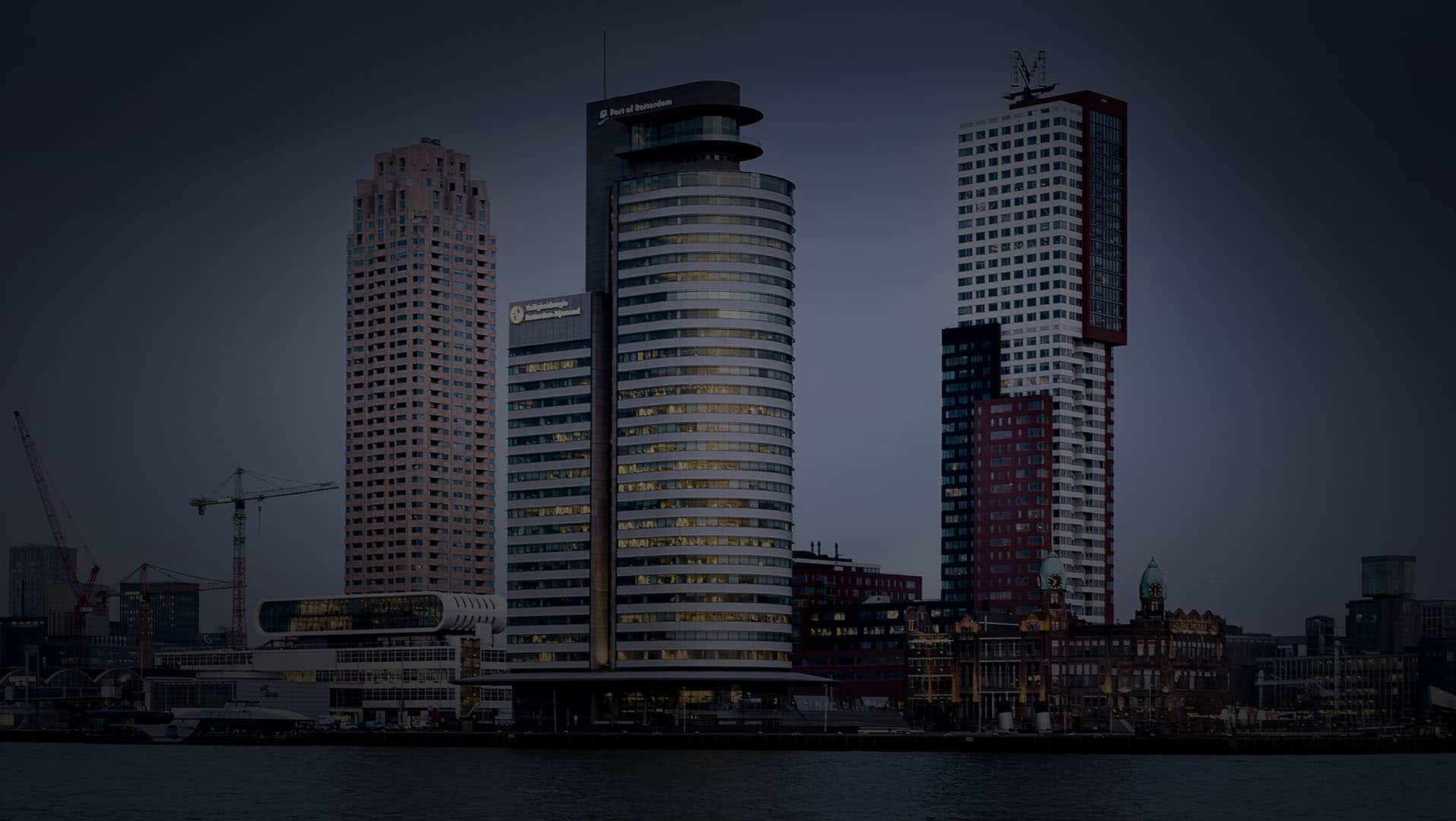 World Port Center Rotterdam dimmed
